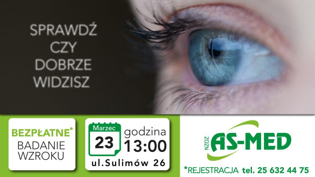 Bezpłatne badanie wzroku w As-med